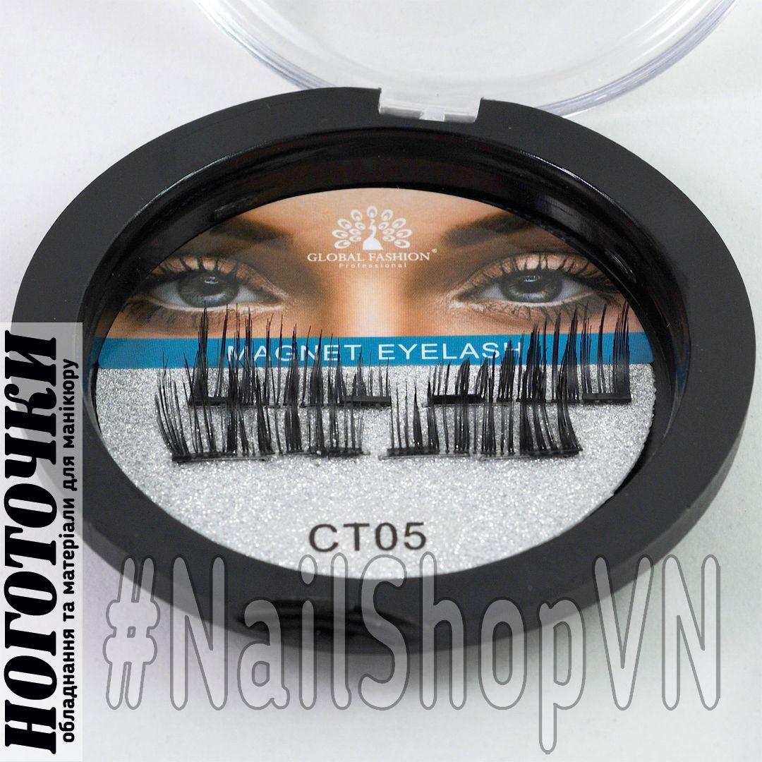 Ресницы накладные на магнитах Global Fashion 2 Magnet Eyelash CT005