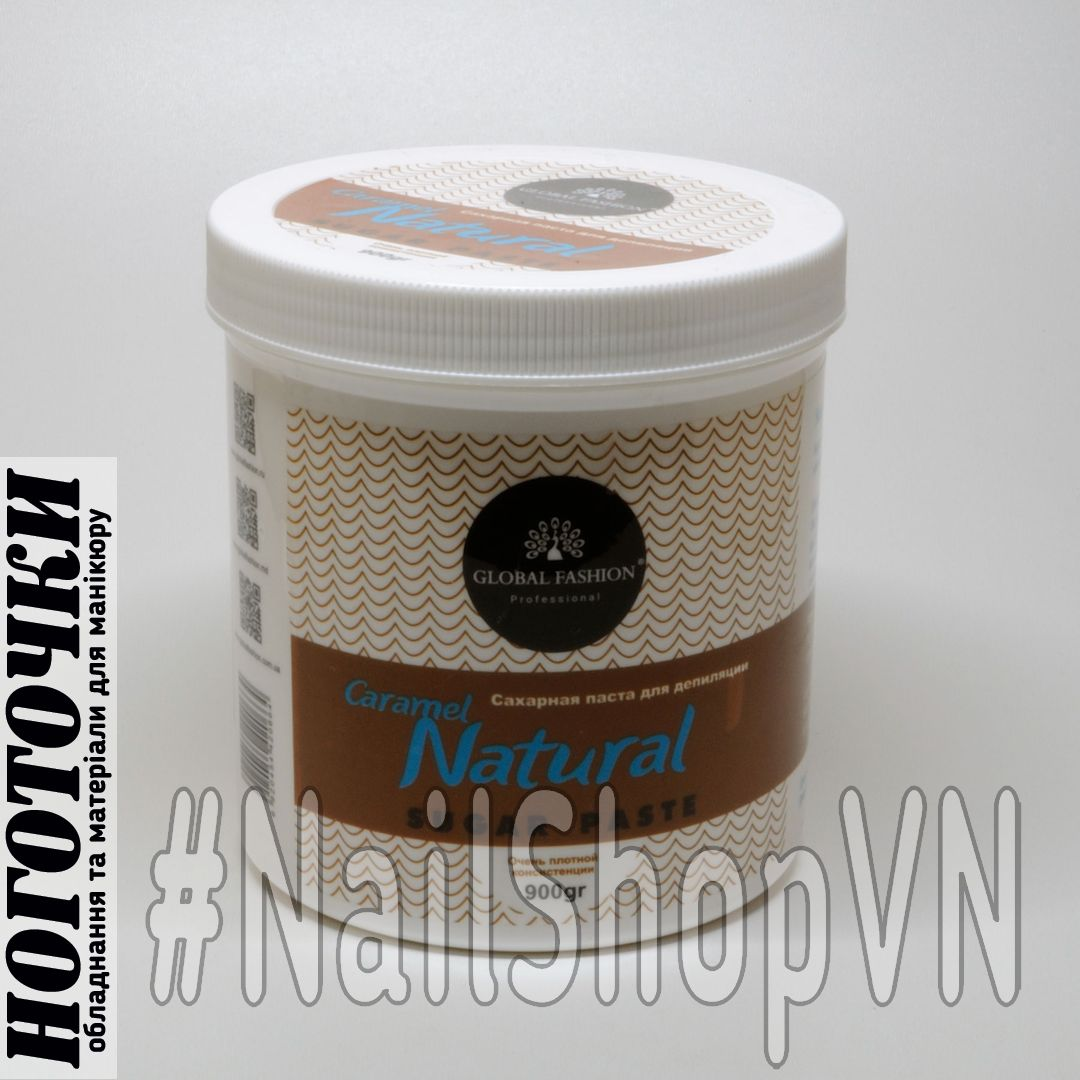 Паста сахарная Global Fashion Caramel Natural плотная 900ml