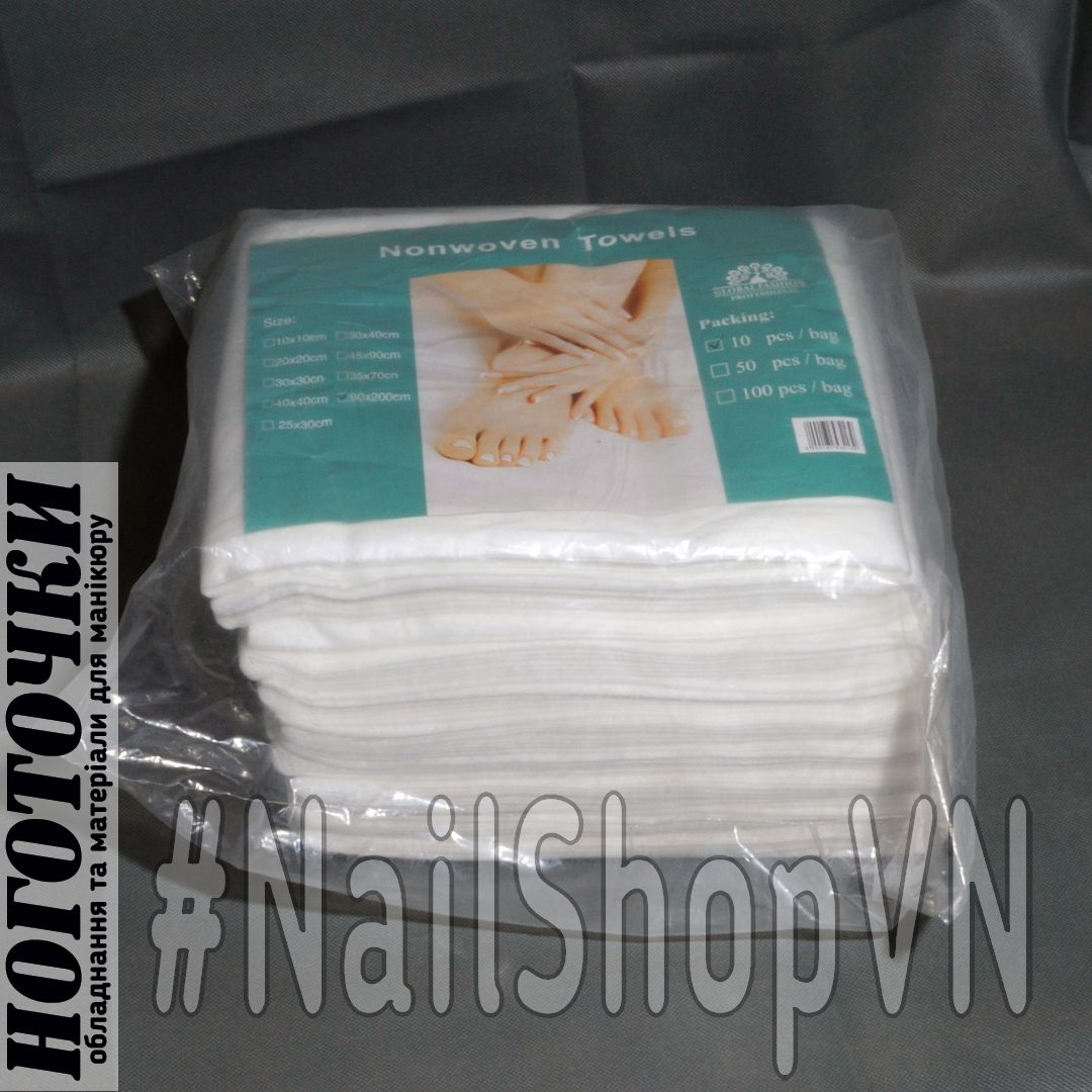 Простыни Global Fashion Nonwoven Towels 90х200см 10шт