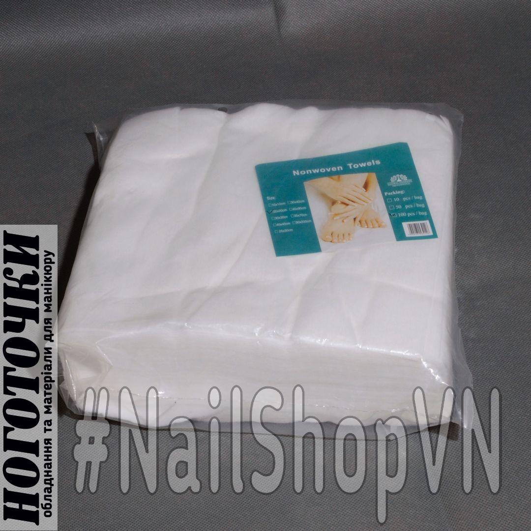 Салфетки Global Fashion Nonwoven Towels 20х20см 100шт