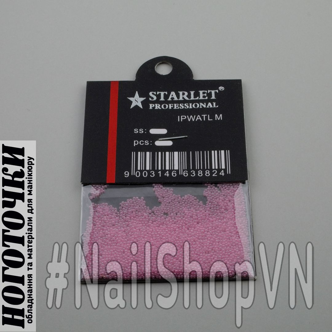 Бульонки Starlet Professional полупрозрачные розовые