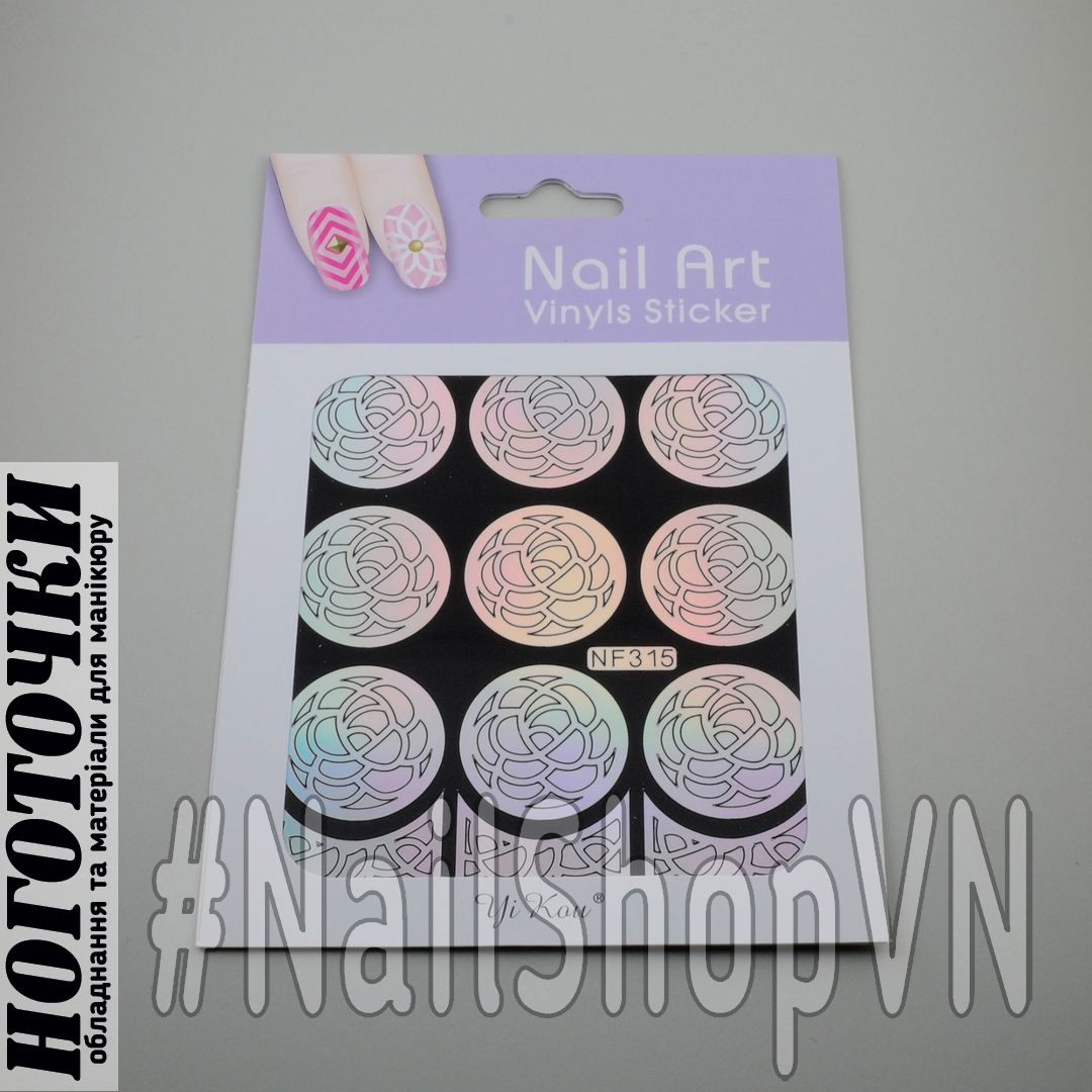 Трафарет-наклейка Nail Art NF315