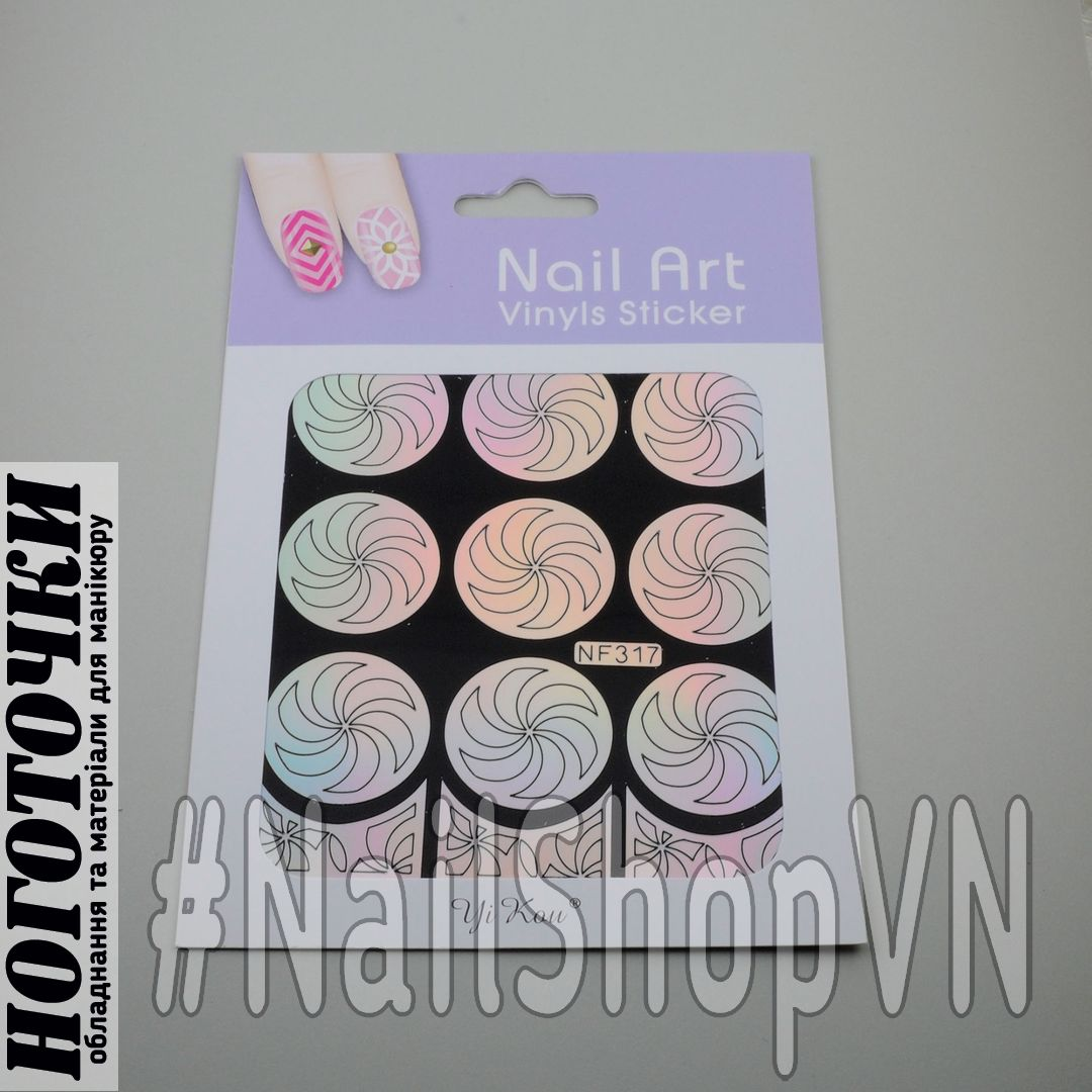 Трафарет-наклейка Nail Art NF317