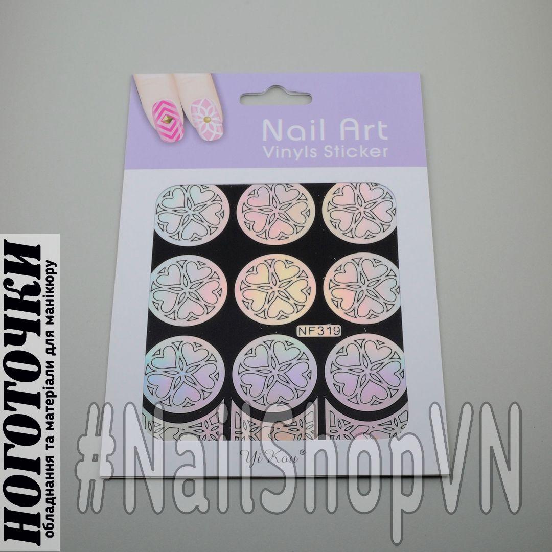 Трафарет-наклейка Nail Art NF319