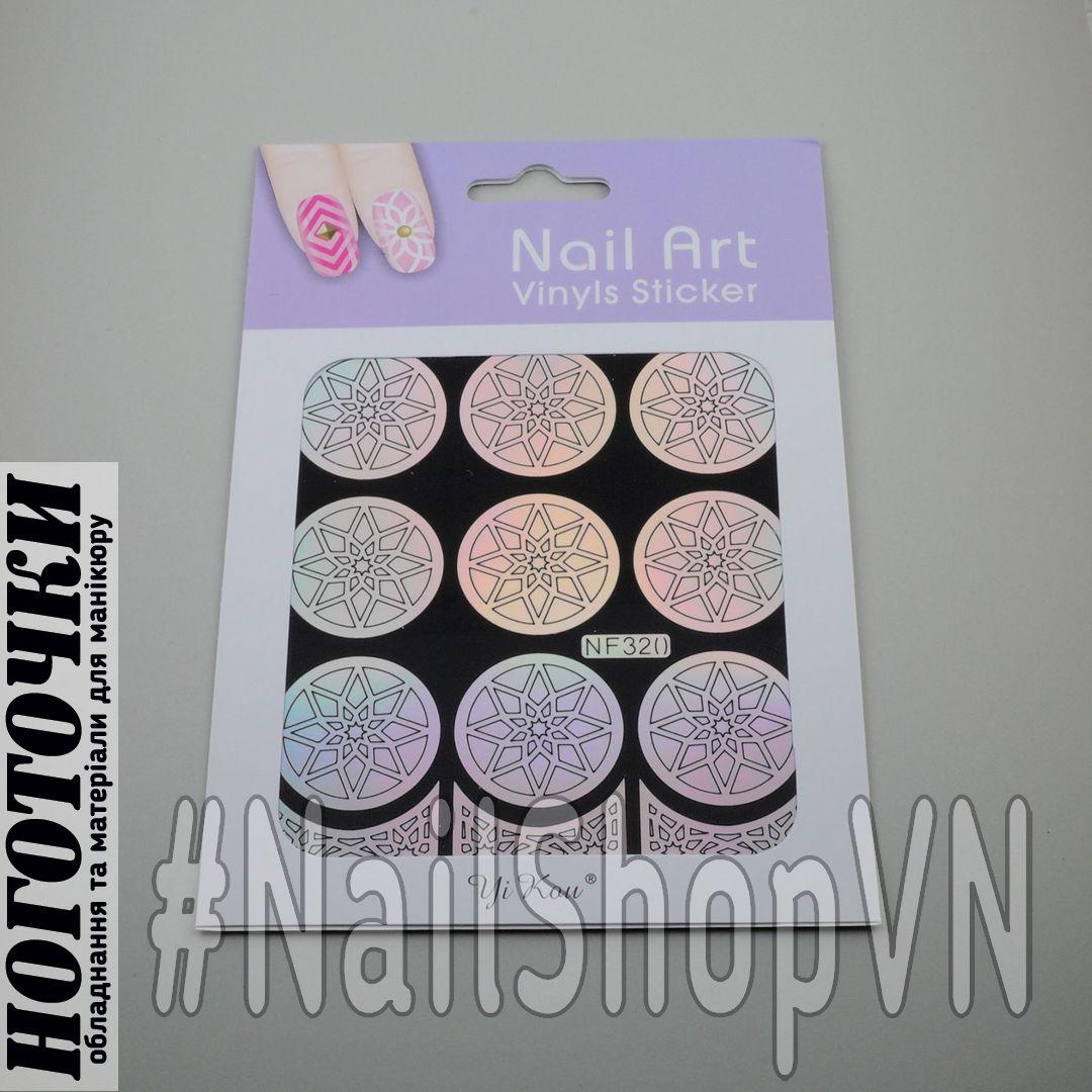 Трафарет-наклейка Nail Art NF320