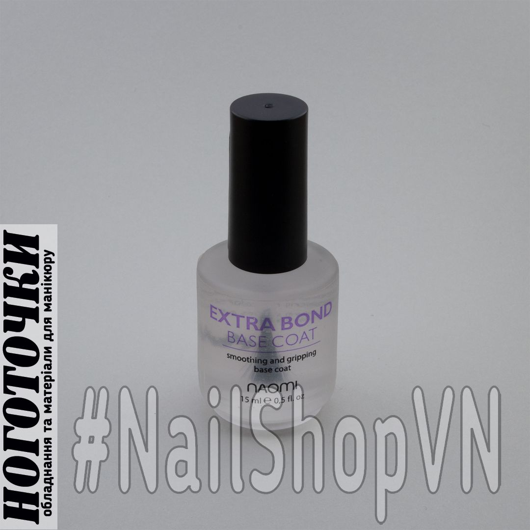 Базовое покрытие для лака Naomi Extra Bond Base Coat 15ml