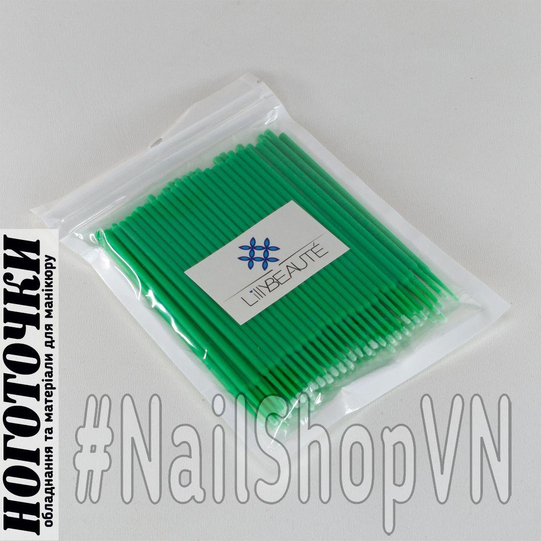 Микробраш для ресниц zip-lock Green